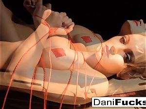 Dani Daniels Has A fun naughty Side As She Gets trussed Up