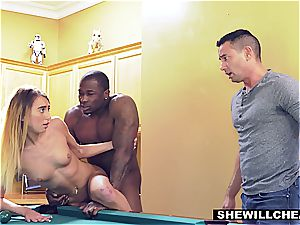 bi-racial cheating scene with frantically naughty superslut
