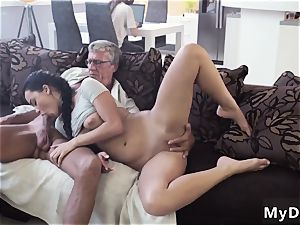 older couple seduce youthfull What would you prefer - computer or your girlplayfellow?