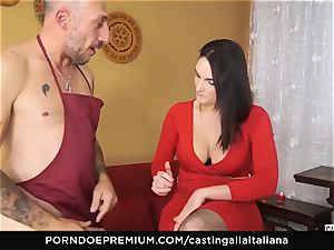 audition ALLA ITALIANA - huge-boobed brown-haired loves moist rectal
