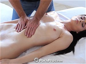 PORNPROS massage lubricious tear up with Haven Rae