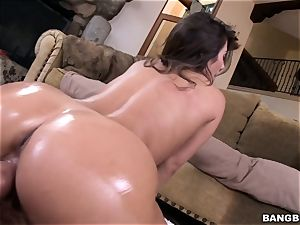 sweeping torrid lady Eva Lovia romped in her moist gash