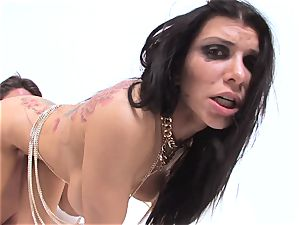 hard gonzo fucking with Romi Rain and Toni Ribas