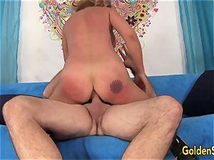 Mature Sky Haven and her mature mate pummel
