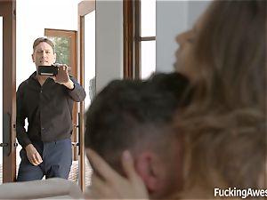 FuckingAwesome - Jillian Janson pounds an another dude