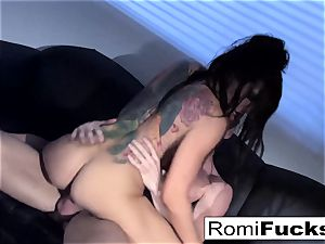 stunning taunt followed by hard fuck-fest with Romi Rain