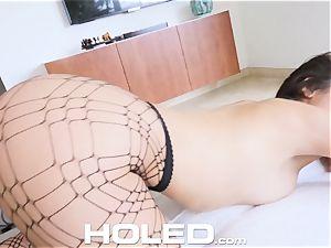 HOLED round booty Abella Danger culo toyed and fucked