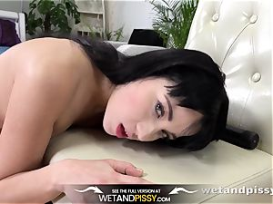 urinate drinking - fantastic Russian guzzles her own pee