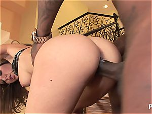 Kiera railing her first ebony penis