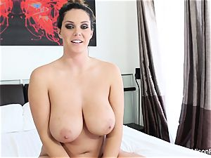 Interview with huge-titted hottie Alison Tyler