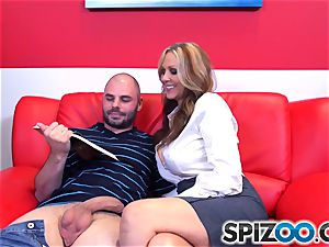 Julia Ann brings the class to the dormitory apartment