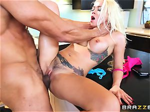 kinky tiny thief Marsha May is smashed for her actions