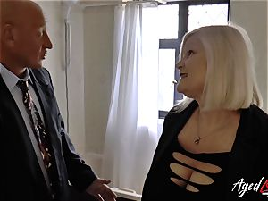 AgedLovE Mature doll Lacey Starr deepthroating firm fuck-stick