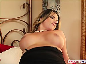 Danica Dillon down for a superb pound to her muff