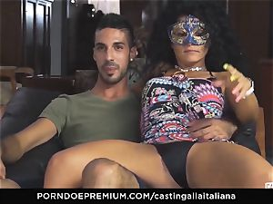 casting ALLA ITALIANA first-timer rockets in rectal fuck