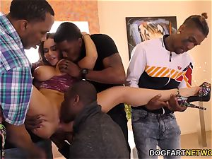 anal honey Natasha super-cute Takes bbc dp