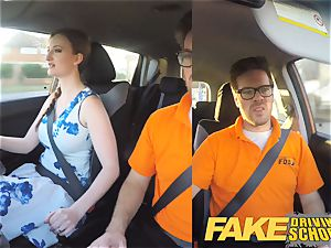 fake Driving college Nerdy redhead nubile student