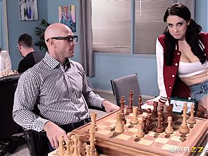 kinky Noelle Easton humping a fortunate chess nerd