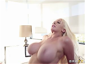 big-titted cowgirl rails a handsome stallion