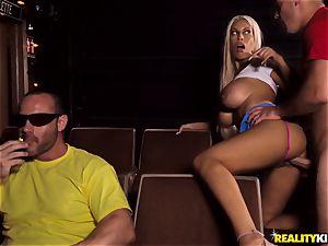 Cinema wood deep throating huge-boobed Bridgette B