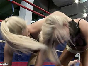 Brandy grin and Tara pink hot blondes fighting