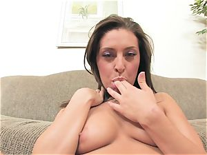 Gracie Glam packs her super hot crevasse with those bitchy naughty frigs pleasuring her