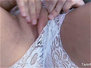 marvelous Taylor Vixen strokes in white underwear