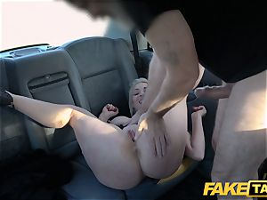 faux cab blonde milf Victoria Summers nailed in a cab