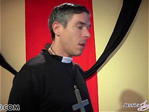 ultra-kinky nuns Jessica Jaymes and Nikki Benz pleasuring gods cravings