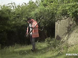 Posh hotty Ella Hughes Takes a giant jizz-shotgun to Her labia