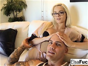 point of view fuck session with Elsa Jean