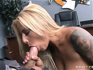Britney Shannon romps her anxious manager in his office