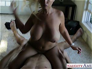 light-haired honey Bridgette B. takes his yam-sized manstick inside her